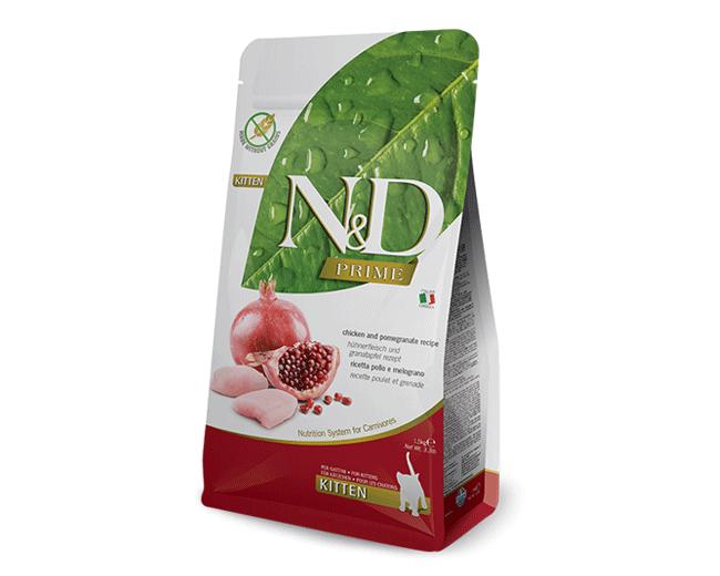 Farminia N&D Prime Kitten Grain Free Gusto Pollo e Melograno 1,5 Kg