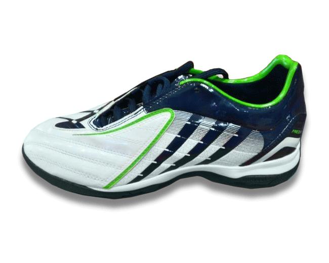 Adidas Absolado Scarpino da Calcio a 5 Bianco/Blu/Verde