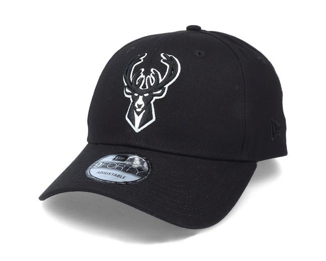 New Era NBA Milwaukee Bucks Diamond Era 9Forty Strapback Cap – Nero Nero Taglia unica