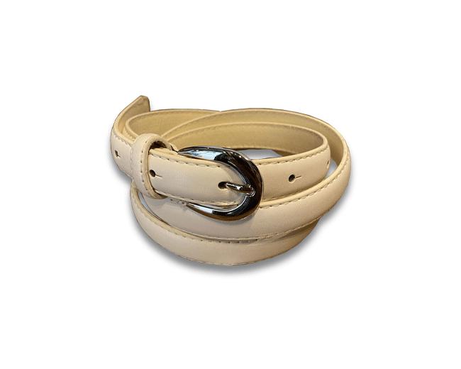 Cintura Donna in Ecopelle con Fibbia in Acciaio