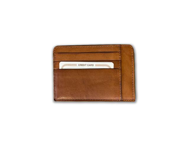 Porta Carte di Credito in Vera Pelle di Vitello