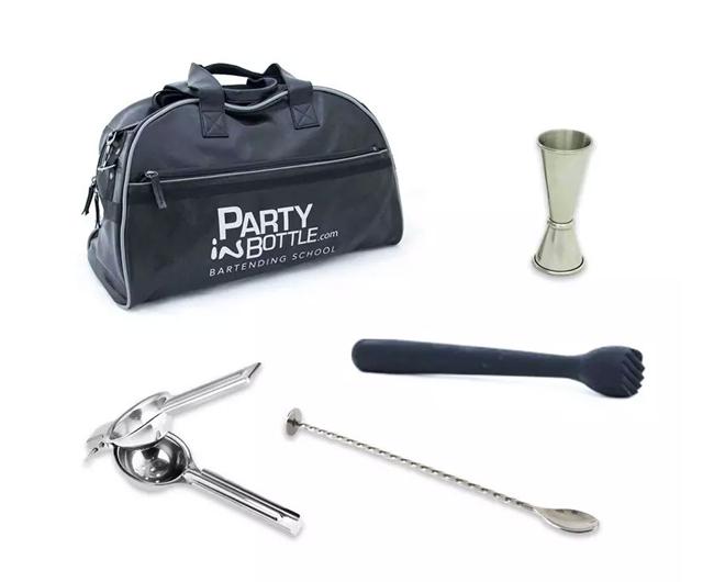 kit base bartender party in bottle