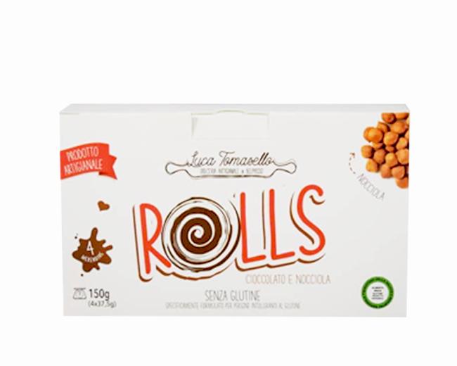 Rolls Tomasello Cioccolato e Nocciola Senza Glutine
