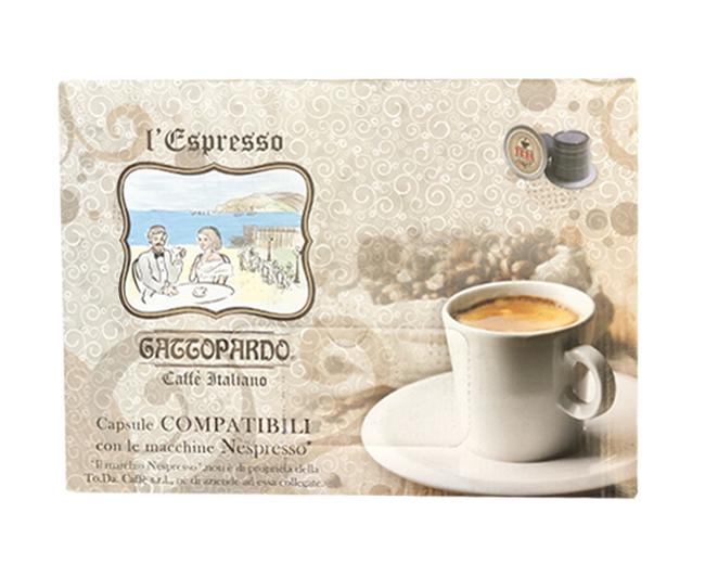 100 Capsule Caffè Gattopardo Compatibili Nespresso